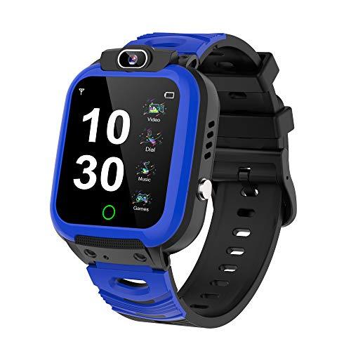 Smartwatch Bambini Phone con Gioco - MP3 Sveglia Smart WatchTouch Screen Chiamata Bidirezionale SOS,Smartwatch per Bambini 3-12 anni Regalo della Ragazza del Ragazzo