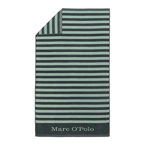 Marc O'Polo Saburo Beach Towel Badetucher, 100 % Baumwolle, Velours, 100 x 180 cm, Grün
