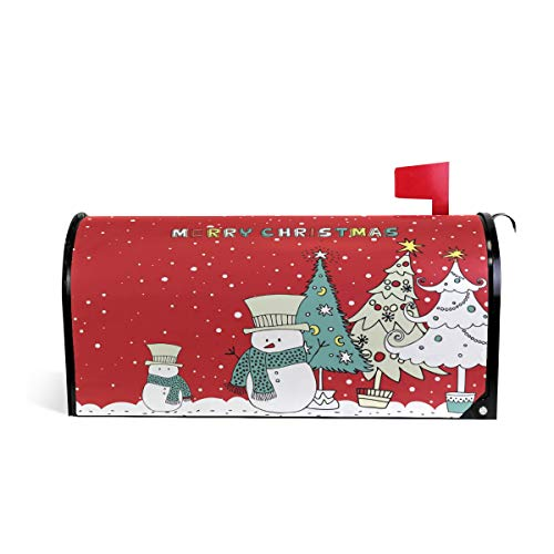 Merry Christmas Snowman Mailbox Holiday Magnetic Letter Box Cover
