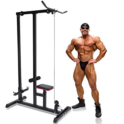 Home Gym Body LAT Pull Down Machine Low Bar Cable Fitness Training Weigh Sports