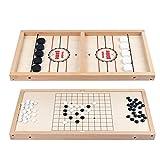 househome Juego de ajedrez de madera rápido, 2 en 1, juego de lanzamiento rápido, bola de hielo portátil, juego de ajedrez interactivo para padres e hijos, juego de ajedrez de escritorio