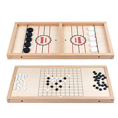 danio Desktop Hockey Tischspiel Tisch Desktop Battle 2 in 1 Eishockeyspiel, Gewinner Brettspiele Spielzeug Kommen Sie mit Ersatzteil und Frühlingsseil
