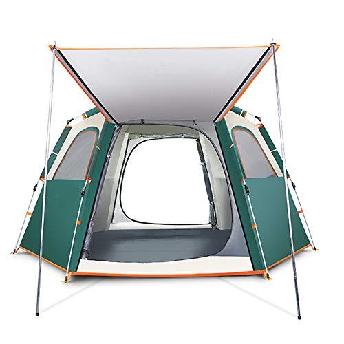 Dans engel Instant Automatische Popup Tent zeshoek tent Hebben een skylight Beach camping individuele Of familie 3-5persoon/5-8person waterdicht Anti-UV Draagbare zeshoek Dome Yurt onmiddellijke kustlijn Tent