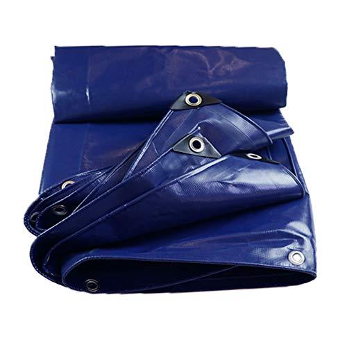 ZEMIN Bâche Protection Couverture Imperméable Antigel Multifonction Corrosion Haute Qualité Épaissir Boutonnières, 530G / M², Plusieurs Tailles (Color : Blue, Size : 4.8 m x 5.8 m)