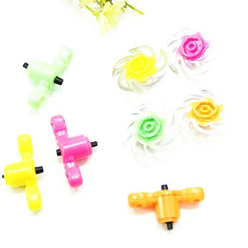 junengSO Mini Aleación Batalla Spinning Tops con Lanzadores Cuchillas Toy Gadget Kids Toy Gift