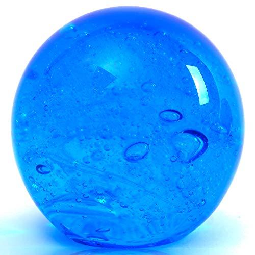 EUSTUMA Hand Geblasen Glas Figuren Ball Ozean Blasen, Briefbeschwerer Glaskugel, Wohnkultur Sammlerstück, Aquarium Dekor, Büro Dekor Ozean Liebhaber