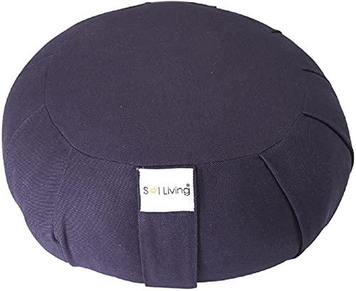 Sol Living Zafu Meditation Cushion - Premium Cotton - Stabilizes Back, Supports Posture -...