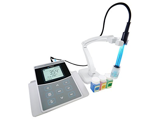 Apera Instruments PC800 Benchtop pH/Conductivity/TDS/Salinity/Resistivity/Temp. Multiparameter Meter Kit, 0.01 pH/1% F.S Accuracy AI523