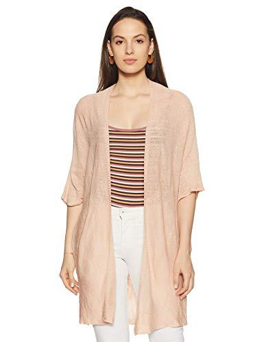 Forever 21 Women's Cotton Cardigan (268859_Light Pink_M)