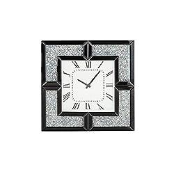 Deco 79 Wall Clocks, Medium, Black, White, Silver