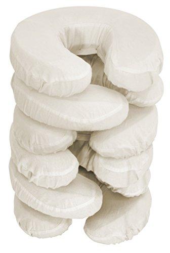 Master Massage 34106DE Kopfbezüge waschbar 100% baumwolle für Massageliege Kopfpolster Kopfstütze Nackenkissen 6 Pack, Beige, 320 g