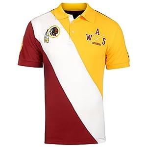 Klew Washington Redskins NFL Men's Diagonal Stripe Polo