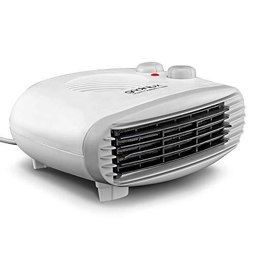 Gridinlux | Calefactor Eléctrico Horizontal | 3 Modos 2 Potencias y Ventilador | 1000-2000W | Termostato Regulable | Calor Bajo Consumo | Bloqueo Sobrecalentamiento | Homely AirPro H2000