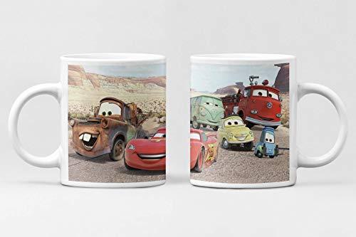 Desconocido Taza Infantil Cars. Taza de cerámica de la película Disney