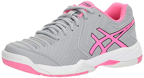 ASICS E755Y Women's Gel-Game 6 Running Shoes, Mid Grey/Hot Pink/White - 10.5 B (M) US