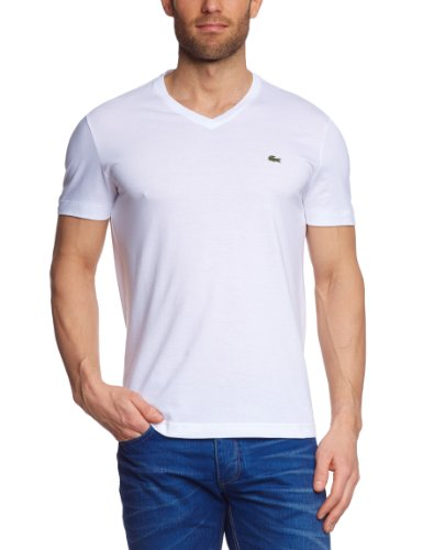 Lacoste Herren T-Shirt TH2036-00 Weiß (WHITE 001) 60 (3XL/9)