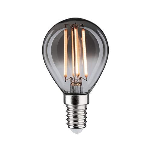 Paulmann 28606 LED Lampe Vintage Tropfen 4 Watt Retro Leuchtmittel dimmbar Rauchglas Glas 2200 K Goldlicht E14