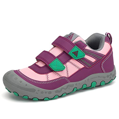 Mishansha Kids Shoes Durable Children Hiking Shoe Girl's Running Tennis Athletic Sneakers Rose Little Kid 12
