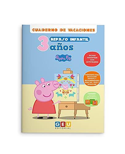 Cuaderno De Vacaciones repaso Infantil niños 3 años Peppa Pig: Actividades sencillas y divertidas   Refuerzo Educación Infantil: Cuadernos con Actividades Peppa Pig (Repaso 1º Educación Infantil)