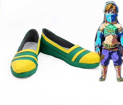 The Legend Of Zelda Breath Of The Wild Link Zapatos Mujer Cosplay Botas Mujeres Euro Tamao 42 Tamao femenino