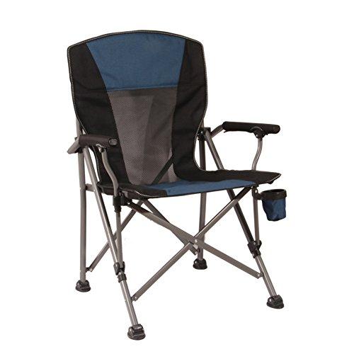 HM&DX Extérieure de chaises pliantes,Portable Chaises de camping Heavy duty Chaise de plage pliante Avec Porte-gobelet Chaises pliantes Pour Gens lourds Jardin camping pêche randonnée picnic-bleu