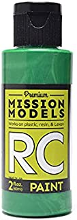 Mission Models Automobile Mmrc-019 Water-Based RC Paint 2 Oz Bottle Pearl Green