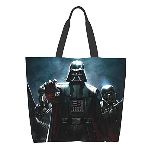 Darth Vader Baby Yoda Star The Wars Mandalorian Ladies Big Capacity Shoulder Bag Shopping school work Bag Handbag Grocery Storage Tote Tablet Bag