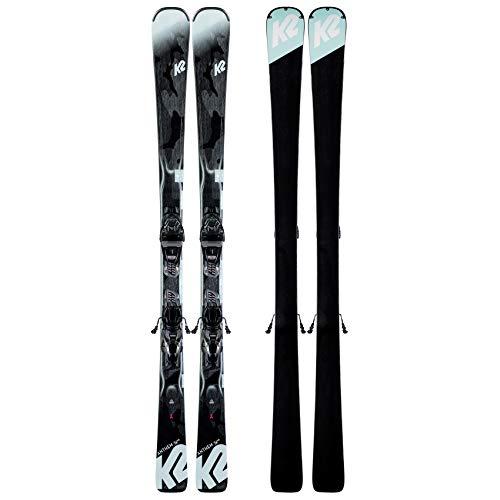 K2 Skis Damen Anthem 74 ER3 10 COMPACT QUIKCLIK Black - Seafoam Set Ski Bindung, Design, 153