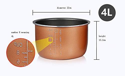 RAP elektrische snelkookpan Liner Multicooker kom 4L / 5L / 6L liter anti-aanbak pan dubbele spray verdikking 4l