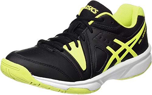Asics Gel-Gamepoint GS, Zapatillas de Gimnasia Niños-Niñas, Negro (Black/Safety Yellow/White), 34.5 EU