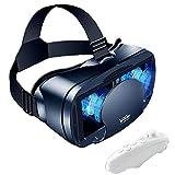Auriculares virtuales VR 3D, caja de realidad virtual de vidrios VR 3D con lente ajustable y correa cómoda, gafas de realidad virtual universal negras