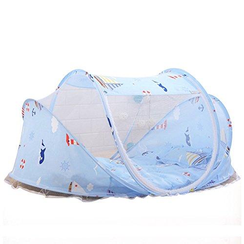 Cama bebé plegable portátil Mosquitero Tienda Colchones Cuna Dosel con cojín outdoor & Music Pack 0~3años nueva