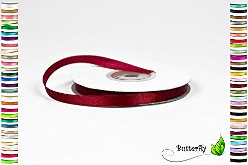 Creativery 25m Rolle Satinband 6mm // Schleifenband Deko Band Dekoband Geschenkband Dekoration Hochzeit Taufe (weinrot/Bordeaux 270)