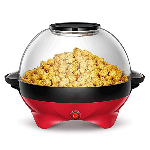 Lowest Price! 800W Popcorn Machine, Non-stick Coating, Electric Stirring with Quick-Heat Technology,...