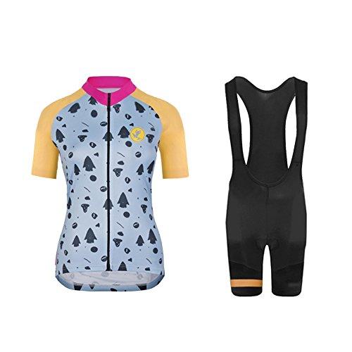 Uglyfrog+ Radsport-Anzüge für Damen, Kurzarm Fahrradtrikot Anzüge Set Fahrrad Trikots Radhose