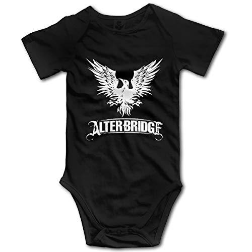 Combinaison bébé Nouveau-né garçon garçons Barboteuse bébé garçon Alter-Bridge(0-3M,Noir)