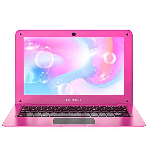 TOPOSH Windows 10 Laptop 10.1 Inch PC Mini Notebook Computer 2GB RAM+32GB SSD Intel Atom X5-Z8350 Quad-Core Graphics 1.92 GHz with TF slot Bluetooth 4.0 Wifi HDMI - Rose