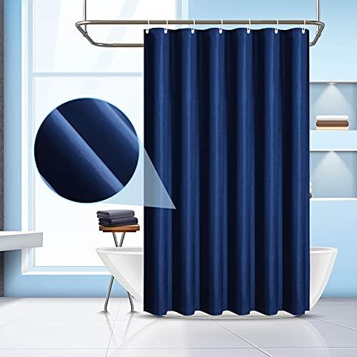DASIAUTOEM Duschvorhang, Wasserdichter Anti-Bakteriell Blue Duschvorhang Textil aus Polyesterfaser mit 8 Duschvorhangringen Waschbar Anti-Schimmel Badewanne Vorhang für Badewanne 100 x 180 cm