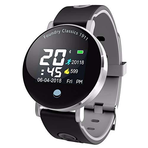 LRWEY Fitness Smart Watch, Farbbildschirm Blutdruck & Blutsauerstoffsättigung & Herzfrequenzüberwachung Smart Watch für Android iOS