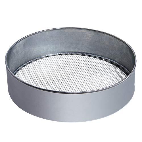 bellissa Hochwertiges Metall-Gartensieb rund – Handsieb/Rüttelsieb - als Erdsieb, Kompost-sieb oder Goldwaschsieb verwendbar Ø 39 cm Maschenweite 6 + 12 mm