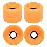 4PCS /セットスケートボードホイール、カラフルな耐摩耗性スケートボードPUホイール、ほとんどのスケートボード用のコンパクトで繊細なパーツ(Orange)
