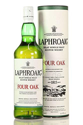 Laphroaig Four Oak Whisky mit Geschenkverpackung (1 x 1 l)