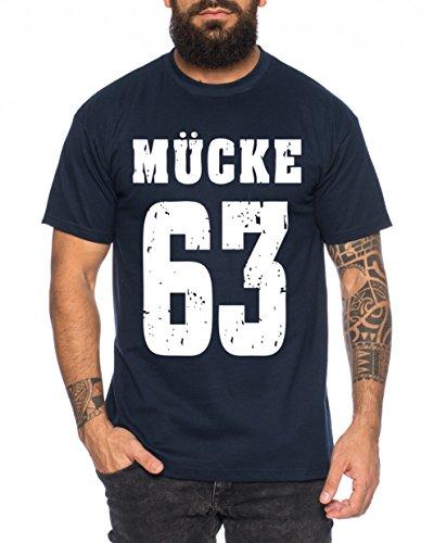 WhyKiki Mücke 63 Buddy Movie Star Film Herren T-Shirt, Farbe:Dunkelblau;Größe:M