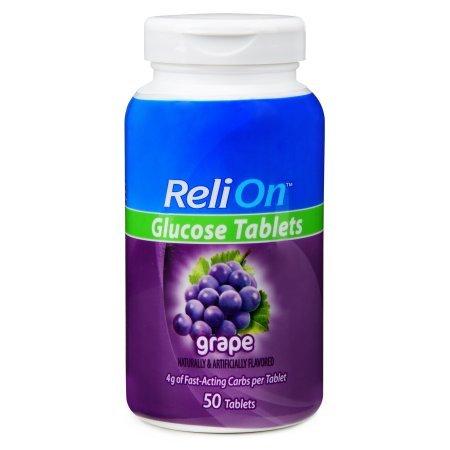 Relion Glucose Tablets - Grape Flavor -  50 counts