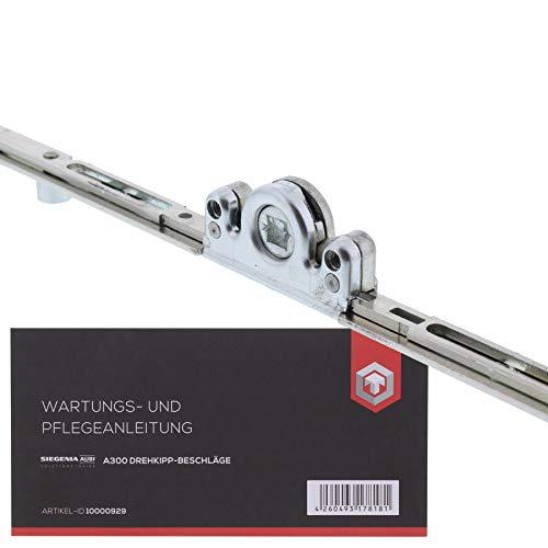 AUBI Fenstergetriebe Mittig Getriebe GM AGMK Beschlag Variabel AGMK3050-100040 + ToniTec Wartungsanleitung für Aubi A300 Fensterbeschläge
