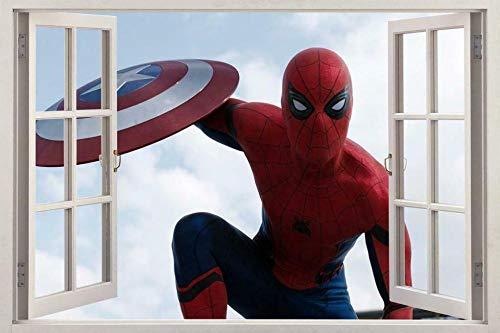 Wandtattoo Spider-Man 3d Window Decal Wall Sticker Art Mural