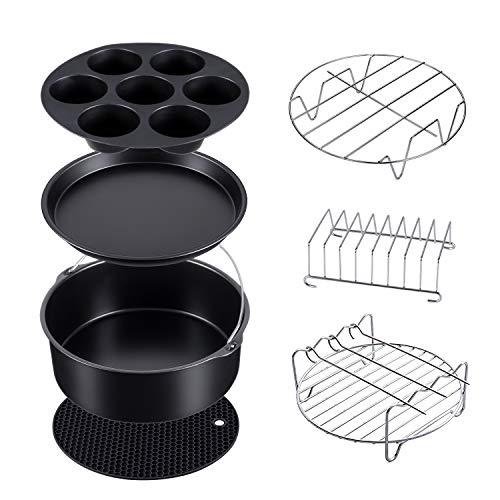 7 Set Pressure Cooker, Steamer & Air Fryer Bakeware Accesories Compatible with Ninja Foodi 5&6.5&8 qt(OP101,OP301,OP302,OP401,FD401)