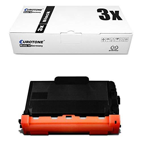 3X Eurotone Toner für Brother MFC-L 5700 5750 6800 6900 DWT DW DN ersetzt TN3480