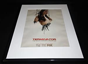 Terminator Sarah Connor Chronicles 2008 Fox Framed ORIGINAL 11x14 Advertisement