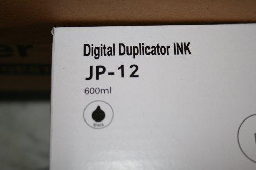 5 Wholesale Widgets Brand JP12 Inks Compatible with Ricoh JP-12/ Gestetner CPI3, CPI7 / Savin 4563, 4568 / Standard 3380 Compatible Brand Black Inks. for use in Ricoh DX3340, Savin 3150E. RICJP12C